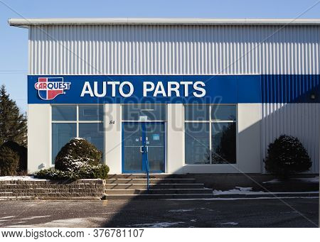Truro, Canada - February 09, 2020: Carquest Auto Parts Outlet. Carquest Corporation Is An American A