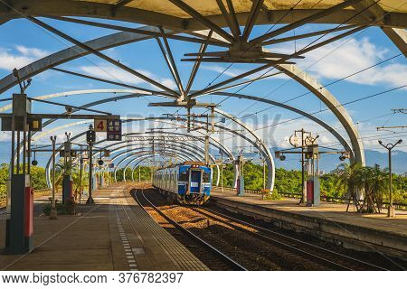 July 17, 2020: Dongshan Railway Station In Yilan County, Is  The First Station In Taiwan To Be Devel