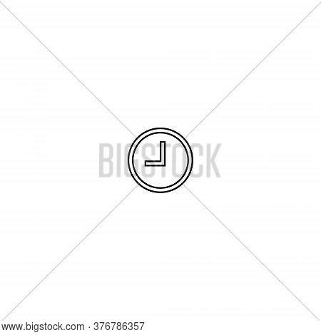 Clock Button Icon Vector In Trendy Outline Style. Pending Symbol Illustration - Editable Stroke