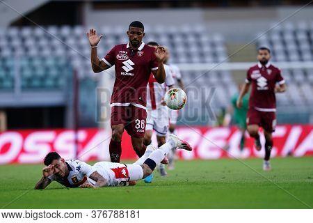 Torino, (italy). 16th July 2020. Italian Football Serie A. Torino Fc Vs Genoa Cfc. Gleison Bremer Of