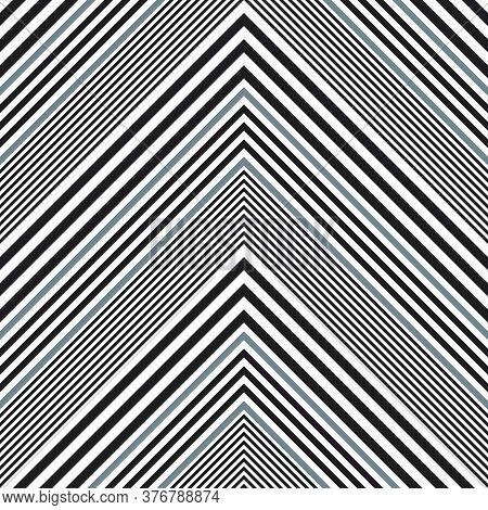 Black And White Chevron Diagonal Stripes Seamless Pattern Background