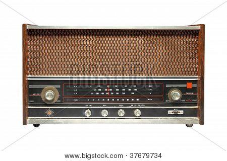 Ancient Radio, Isolated On White Background