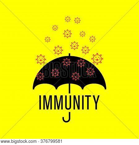 Herd Immunity Logo Icon For New Normal Lifestye Concept.