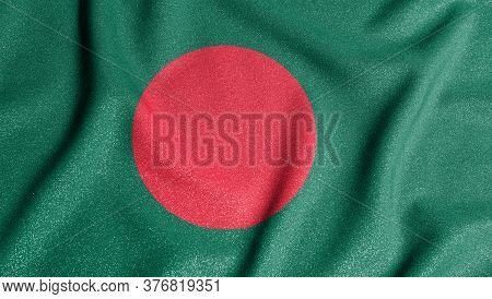 National Flag Of The Bangladesh. The Main Symbol Of An Independent Country. Flag Of Bangladesh.