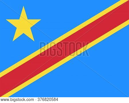 Democratic Republic Of Congo Flag Graphics Design. Travel Background And Wallpapers.