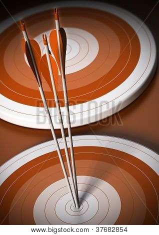 target and arrow background, business goal