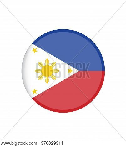 National Philippines Flag, Official Colors And Proportion Correctly. National Philippines  Flag.