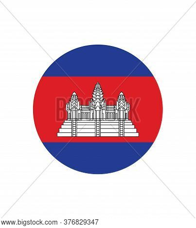 National Cambodia Flag, Official Colors And Proportion Correctly. National Cambodia Flag.