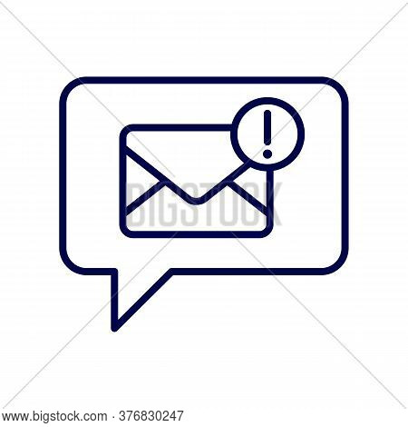 Hello You Have Got A Mail. Linear Mobile Mail Notification. Flat Web Mail Notice. Mail Message Speec