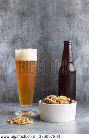 View Of Beer Served In A Glass
