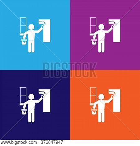 Wall Painting Premium Quality Icon. Elements Of Constraction Icon. Signs And Symbols Collection Icon