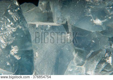 A Large Mineral Sample Of Vibrant Blue Celestine Mineral