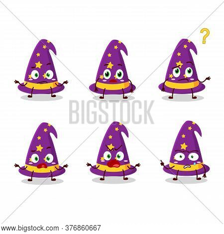 Cartoon Character Of Wizard Hat With What Expression