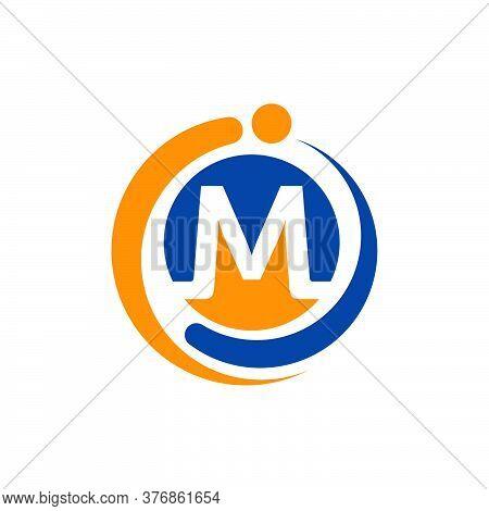 Round Circle Mi Logo Initial M & I Graphic Concept Branding Vector Icons Illustration