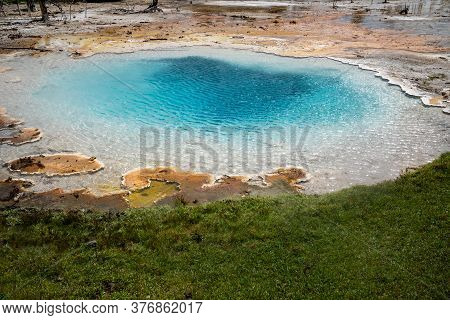 Liberty Spring, A Hot Spring Geothermal Pool In The Fountain Paint Pot Trail Area Of Yellowstone Nat
