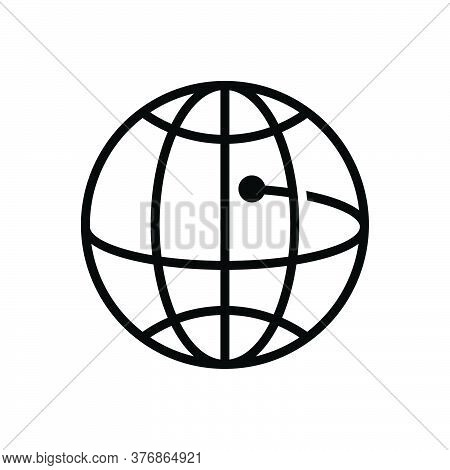 Black Solid Icon For Global-business Community Cooperation Technology Network Worldwide Globalizatio