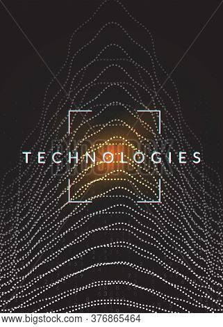 Abstract Tech Visuals. Digital Technology Background. Artificial Intelligence, Deep Learning And Big
