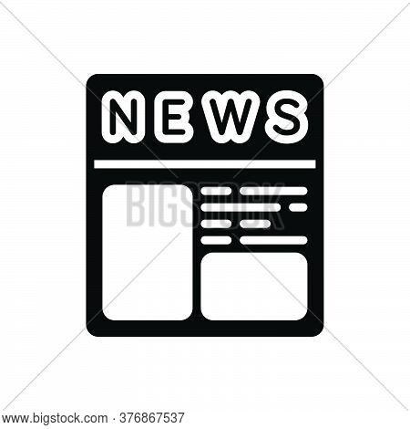 Black Solid Icon For Newspaper-ads Newspaper Paper Journal Magazine News Document Classified Opportu