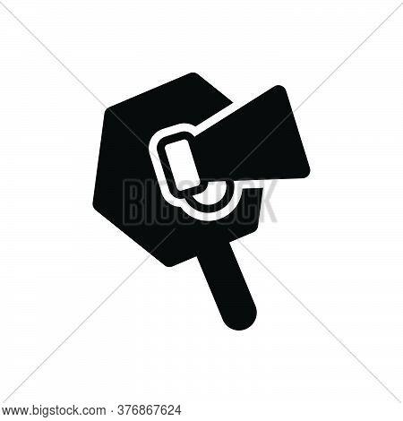 Black Solid Icon For Promotion Loudspeaker Megaphone Announce Publicity Marketing Announcement Speak