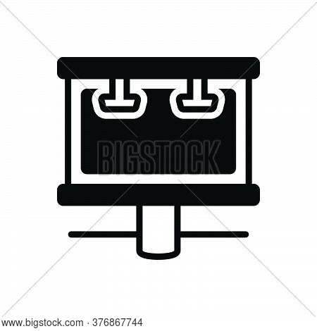 Black Solid Icon For Billboard-advertising Advertising-campaign Banner Display Advertising Campaign