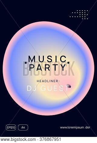 Music Fest. Electronic Sound. Night Dance Lifestyle Holiday. Feminine House Concert Presentation Des