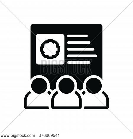 Black Solid Icon For Team-skills Employee Configure Control Efficiency Management Preferences Skills