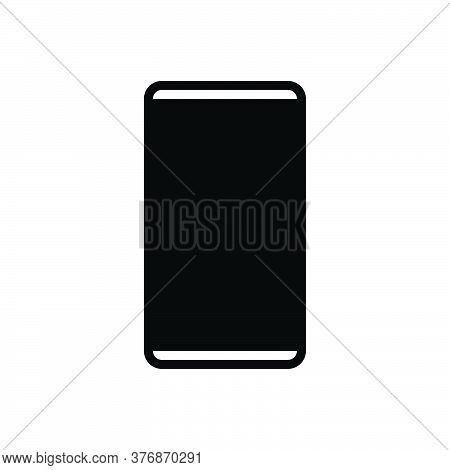 Black Solid Icon For Smartphone Code Smartphone Cell-phone Cell Phone Mobile Electronic Gadget Wirel