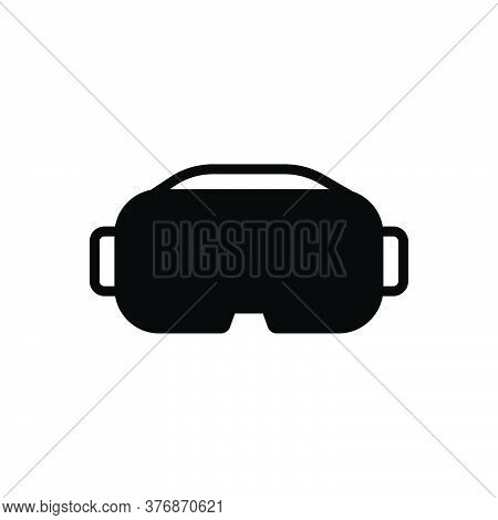 Black Solid Icon For Vr Vr-glasses Glasses Reality Gadget Visual-watching Virtual Entertainment