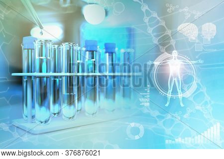 Laboratory Test Tubes In Modern Chemical College Facility - Drinkable Water Quality Test For Bacteri