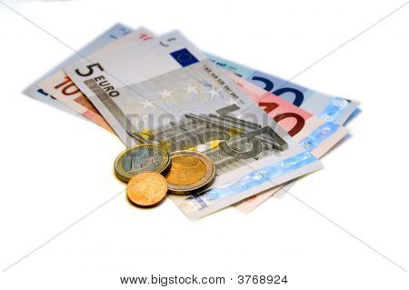 Euros (Eur) On White