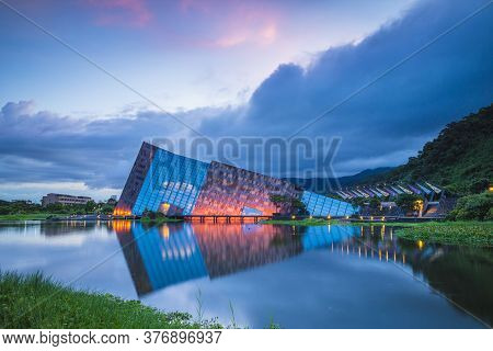 July 14, 2020: Scenery Of Lanyang Museum In Yilan County, Taiwan. The Main Building Was Designed By
