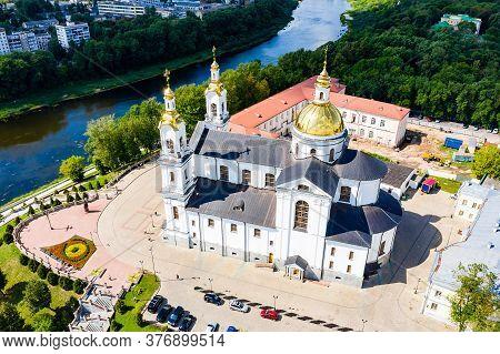 Vitebsk, Belarus - July 20, 2019 - Top View Of The Holy Spirits Women's Monastery Of The Vitebsk Dio