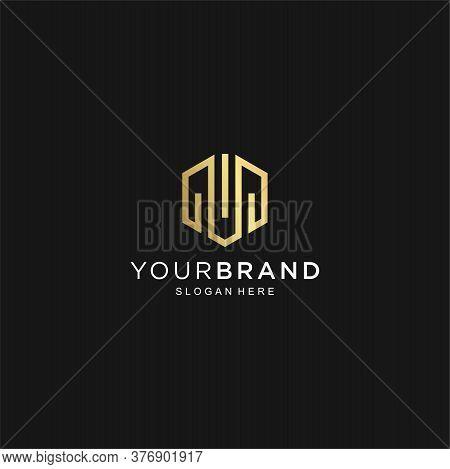 Modern Letter M Line Logo Gold Design. Creative Minimal Monochrome Monogram Symbol. Premium Business