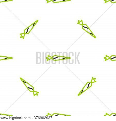 Line Marijuana Joint, Spliff Icon Isolated Seamless Pattern On White Background. Cigarette With Drug