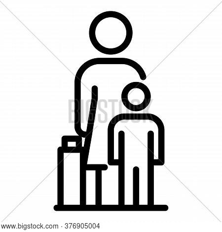 Illegal Immigrants Icon. Outline Illegal Immigrants Vector Icon For Web Design Isolated On White Bac