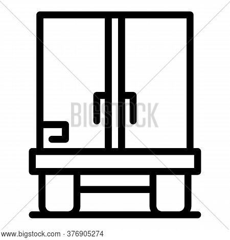 Truck Immigrants Icon. Outline Truck Immigrants Vector Icon For Web Design Isolated On White Backgro