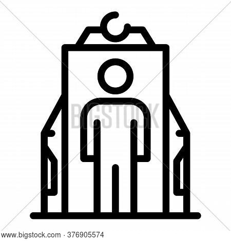 Immigrant Control Gate Icon. Outline Immigrant Control Gate Vector Icon For Web Design Isolated On W