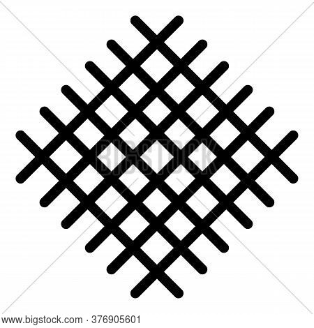 Metal Net Icon. Outline Metal Net Vector Icon For Web Design Isolated On White Background