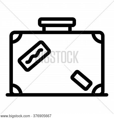 Immigrant Bag Icon. Outline Immigrant Bag Vector Icon For Web Design Isolated On White Background