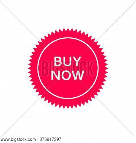 Buy Now Banner Icon. Buy Now Tag Vector Illustration Isolated On White