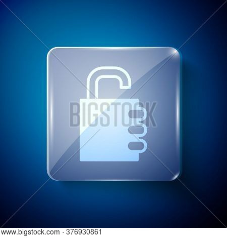 White Safe Combination Lock Icon Isolated On Blue Background. Combination Padlock. Security, Safety,