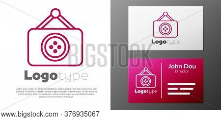 Logotype Line Tailor Shop Icon Isolated On White Background. Logo Design Template Element. Vector Il