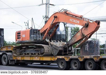 Private Hitachi Backhoe On Truck