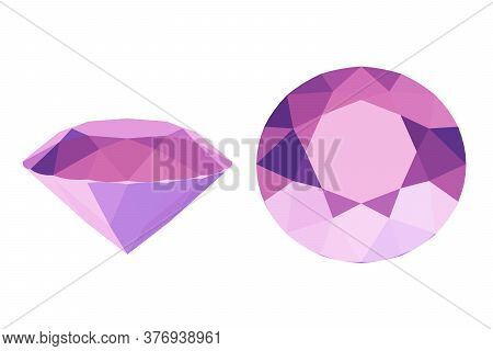 Pink Ruby Stone, Precious Diamond, 3d Render
