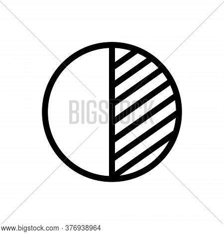 Contrast Outline Icon. Symbol, Logo Illustration For Mobile Concept And Web Design.
