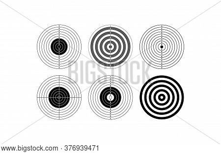 Blank Template For Sport Target Shooting Competition. Clean Target With Numbers For Shooting Range O