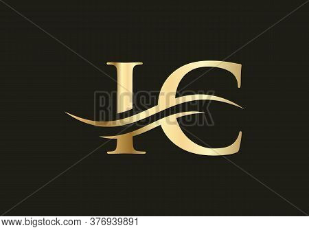 Initial Ic Letter Logo With Creative Modern Business Typography Vector Template.