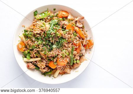 Healthy Chicken Thigh Stir Fry For Calorie Reduced Weight Loss Diet