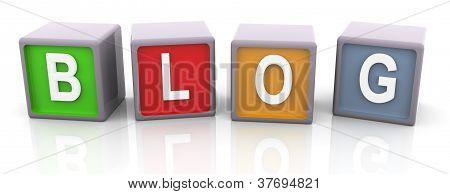 3D Colorful Text 'blog'