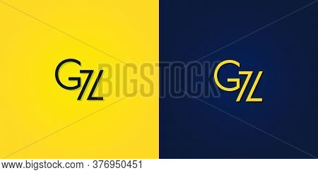 Minimalist Abstract Initial Letter Gz Logo. This Logo Incorporate With Abstract Letter In The Creati